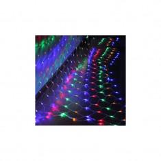 Instalatie de Craciun, 2 m x 2 m, Plasa, Multicolor, 160 leduri, plasa luminoasa / girlanda / de exterior 6008M