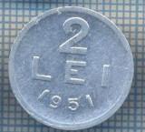 AX 726 MONEDA- ROMANIA - 2 LEI -ANUL 1951 -STAREA CARE SE VEDE