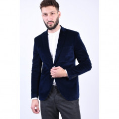 Sacou Catifea Selected Mode Slim Navy Blazer