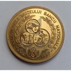Medalie Romania - Inaugurarea Muzeului Bancii Nationale 1997