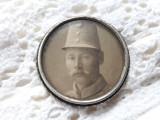 BROSA argint cu LOCAS FOTOGRAFIE de colectie BIEDERMEIER 1850 opulenta RARA