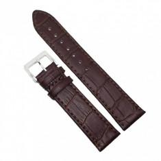 Curea de ceas din piele naturala Maro - 20mm, 22mm - 7A1-M