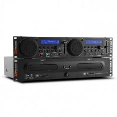 Power Dynamics Power Dynamic PDX115, dual DJ CD player controler cu SD, USB, CD, MP3, suport