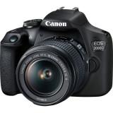 Aparat foto DSLR Canon EOS 2000D,24.1 MP, Negru + Obiectiv EF-S 18-55mm IS II