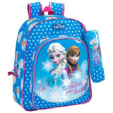 Ghiozdan scoala cu penar Frozen Follow your heart