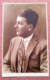 Portret de barbat - Fotografie tip carte postala datata 1928