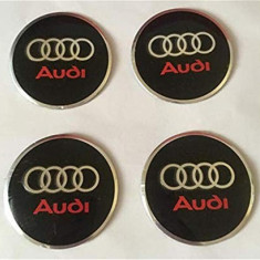 Set 4 bucati stickere capac central janta Audi