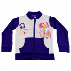 Hanorac Violetta Disney, Alb/ Violet, pentru fetite