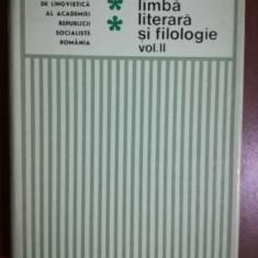 Studii de limba literara si filologie vol 2- Ion Ghetie, Alexandru Mares