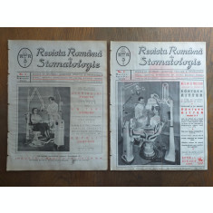 REVISTA ROMANA DE STOMATOLOGIE, 1938, COLECTIE COMPLECTA,6 NUMERE