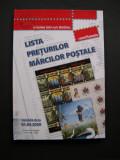 Lista preţurilor mărcilor poştale  2009  România