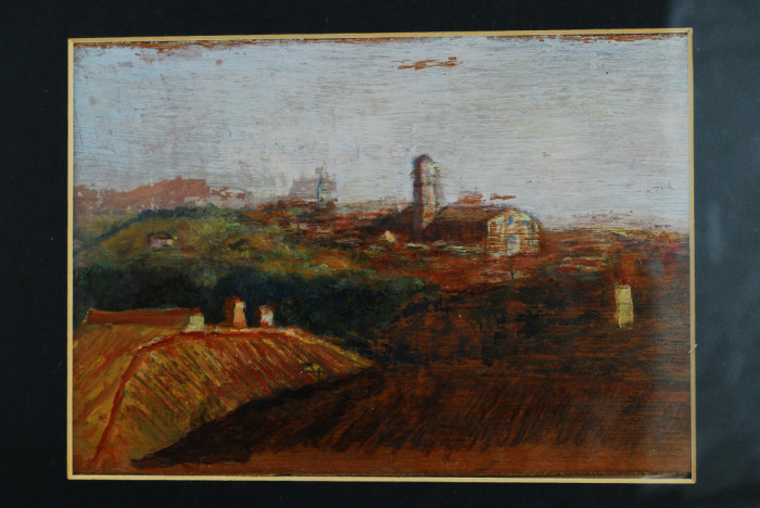 Tablou pictura - Peisaj din Toscana - pictor italian ulei