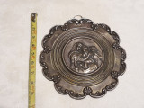 MEDALION PECTORAL argint ICOANA rar FECIORA MARIA, SFANTUL IOSIF si ISUS opulent