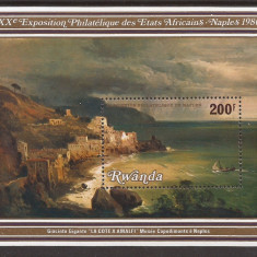 RWANDA 1980 PICTURA ( colita dantelata ) MNH