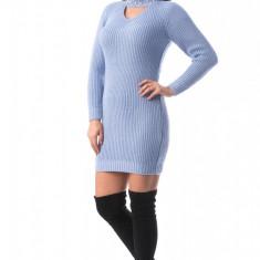J936-4 Rochie scurta si tricotata cu choker