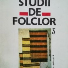 Studii de folclor vol 3