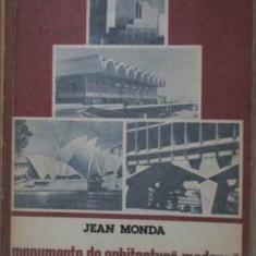 MONUMENTE DE ARHITECTURA MODERNA - JEAN MONDA