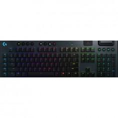 Tastatura mecanica gaming Logitech G915, Ultraslim, Lightspeed Wireless, Lightsync RGB, Switch Clicky