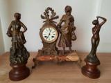 Set Ceas antic de semineu Japy Freres