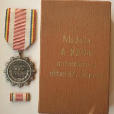 Medalia 1944 -1969 A 25a Aniversare a Eliberarii Patriei - decoratie la cutie