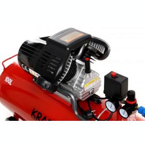 Compresor de aer industrial 100litri, 3kW, 220V KraftDele KD1480 TBC