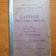laptele-puterea saca hrana si producerea lui 1904-foto familia regala la pelisor