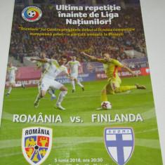Program meci fotbal ROMANIA - FINLANDA (05.06.2018)