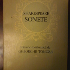 Shakespeare - Sonete - versiune romaneasca de Gheorghe Tomozei