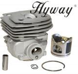 Cumpara ieftin Kit cilindru drujba Husqvarna 357 Hyway Ø 46 mm (Piston placat cu teflon)