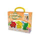 Joc de insiretat Animale Miniland, 8 sabloane, 10 snururi