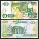 = ZAMBIA - 20 KWACHA - 1992 - UNC - POLYMER   =