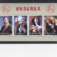 ROMANIA 2004  LP 1641  DRACULA BLOC  DANTELAT  MNH