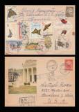 1960 Romania - Plic circulat serii complete Fluturi & Sport la sate, LP 505, 506