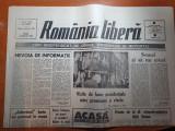 Ziarul romania libera 2 martie 1990-vizite de lucru prezidentiale