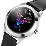 Ceasul pentru femei KW10 Smartwatch 2019, ECG, PPG, ciclul, PIELE NEGRU