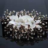 Accesoriu de par cu flori albe Arden