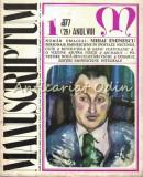 Cumpara ieftin Manuscriptum. Revista Trimestriala - Nr.: 1/1977 * (26) Anul VIII