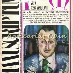 Manuscriptum. Revista Trimestriala - Nr.: 1/1977 * (26) Anul VIII