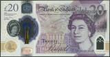 MAREA BRITANIE █ bancnota █ 20 Pounds █ 2020 █ polymer █ UNC █ necirculata