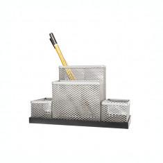 Suport pentru accesorii de birou metalic mesh Forpus 30556 silver