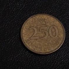 Monedă 250 livres 1996 Liban
