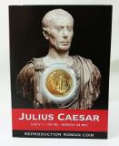 """Monedă Romană - Împărat Roman Iulius Caesar """"Aureus of Caesar"""", reproducere"""