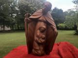 Statueta,sculptura in lemn masiv ,Isus,Fecioara Maria si Pruncul
