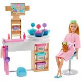 Cumpara ieftin Set papusa Barbie cu figurina si accesorii - O zi la salonul Spa, Mattel