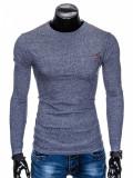 Cumpara ieftin Bluza pentru barbati, din bumbac, bleumarin, simpla, slim fit - L103, XXL