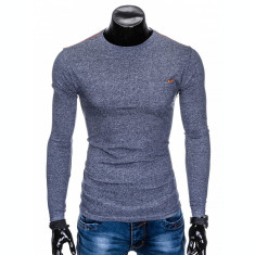 Bluza pentru barbati, din bumbac, bleumarin, simpla, slim fit - L103