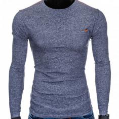 Bluza pentru barbati din bumbac bleumarin simpla slim fit L103