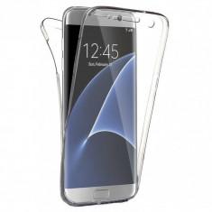 Husa 360 (fata+spate) silicon transparent pentru Samsung S7 Edge