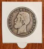 5 lei 1880, România, Kullrich pe cerc, argint