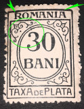 "Cumpara ieftin Erori Romania 1920 TAXA DE PLATA 30 BANI , litera ""R"" lipita de cadru, Nestampilat"